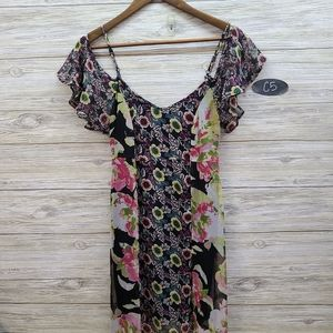 Band Of Gypsies Mixed Floral Pattern Dress